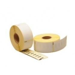 COMPATIBLE CON Brother DK44205 - Etiquetas Removibles de Tamaño personalizado -62mm x 15,24 metros- Texto negro sobre blanco