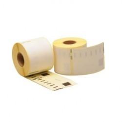 COMPATIBLE CON Brother DK11240 - Etiquetas Precortadas Multiproposito Grandes -102x51mm -600 Unid.- Texto negro sobre blanco